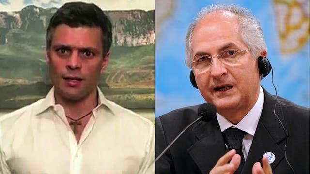 López y Ledezma: los líderes de la oposición venezolana