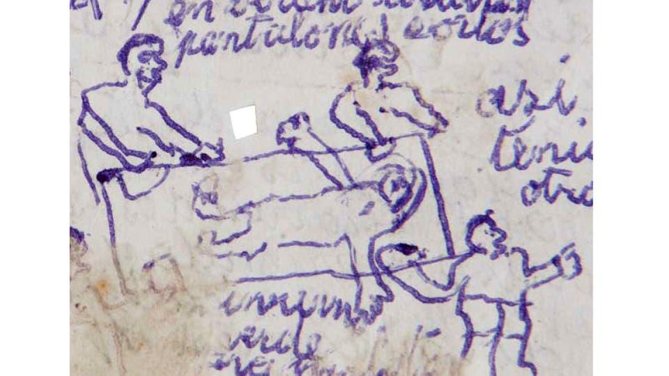 López guardó en una caja de herramientas unos 30 manuscritos sobre sus años como desaparecido durante la dictadura. Foto: Gentileza Marea Editorial