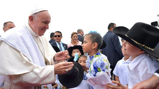 El papa Francisco, en Villavicencio