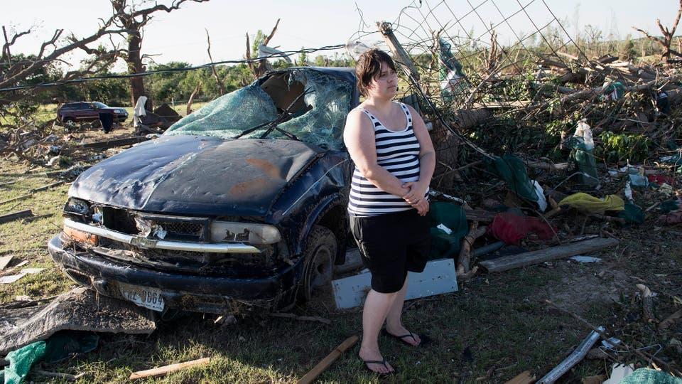 El Servicio Meteorológico Nacional confirmó al menos cuatro tornados en Texas. Foto: AP / Sarah A. Miller/Tyler Morning Telegraph