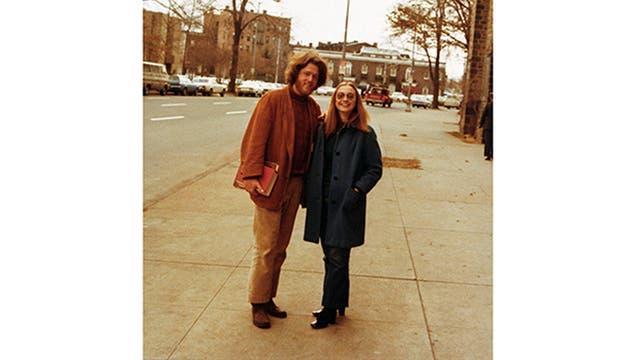 Bill y Hillary, en la universidad