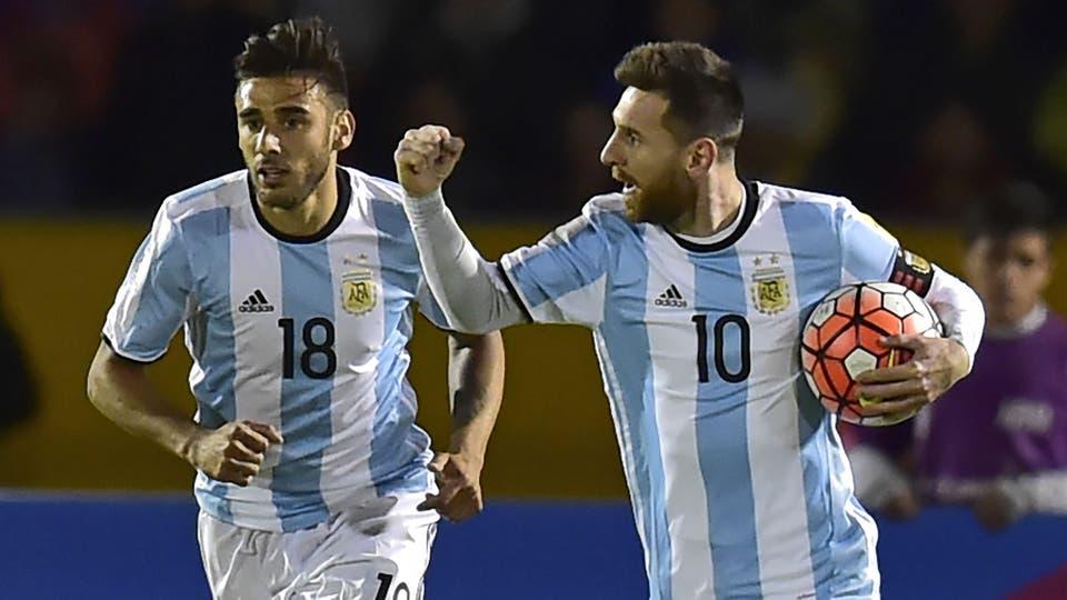 El festejo del empate. Foto: AFP