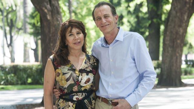 Kasanzew y Teresa, posando para LA NACION
