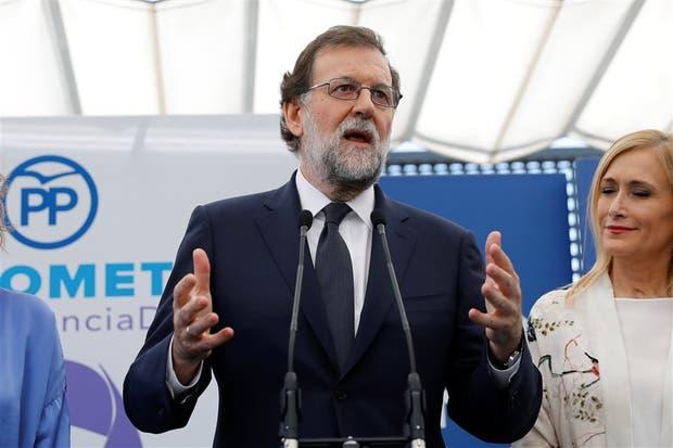 Rajoy, en un encuentro del PP, horas después de declarar ante la Justicia