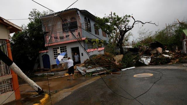 El barrio de Guayama, en Puerto Rico, donde María impactó con vientos de 250 km/h (categoría 4)