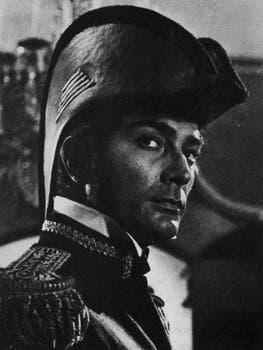 Alfredo Alcón, como San Martín.