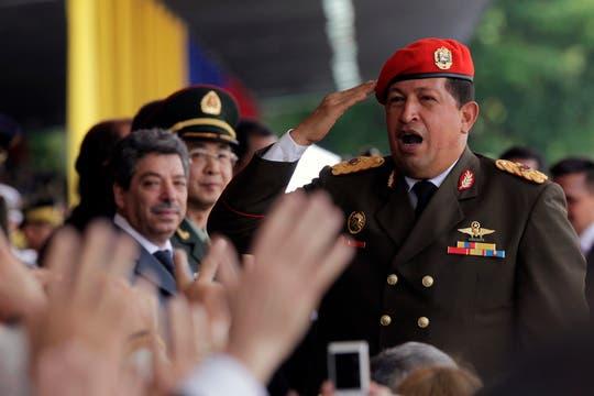 Chávez encabezando los festejos por el bicentenario de Venezuela en abril de 2010. Foto: Archivo
