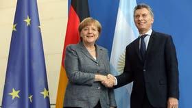 Macri junto a Merkel en Berlín