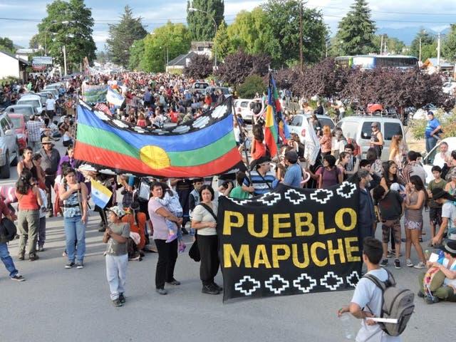 La protesta en El Bolsón
