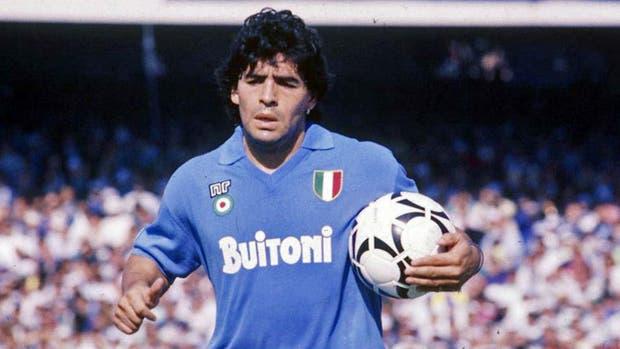 Diego Maradona, en su época de jugador de Napoli