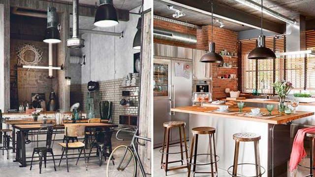 Techos altísimos, madera y metal para un loft bien urbano