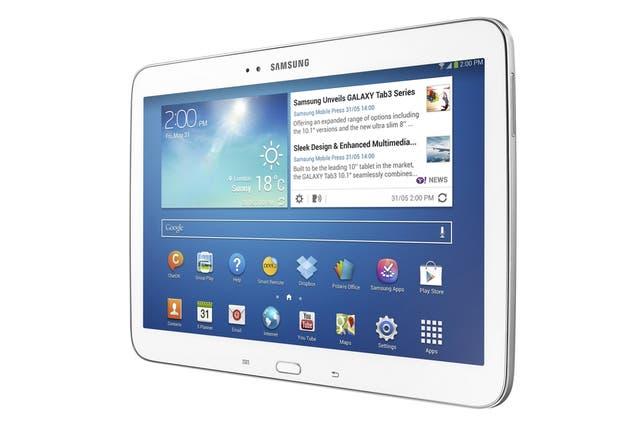La Samsung Galaxy Tab 3 de 10,1 pulgadas, con chip Intel y Android 4.2.2