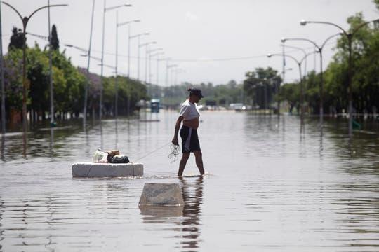 Luján fue una de las zonas más afectada por el temporal, la crecida del río superó los 5 metros. Foto: LA NACION / Maxie Amena