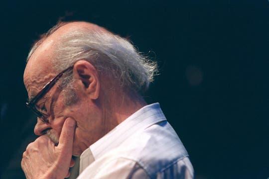 Durante un homenaje que recibió en el Centro Cultural Recoleta en 1997. Foto: Archivo