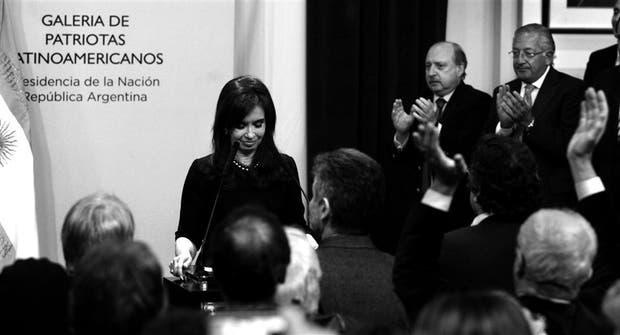 Cristina Kirchner, anteayer, al lanzar su candidatura a la reelección