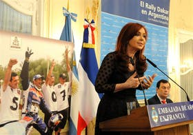 Cristina Kirchner presentó novedades deportivas, al hablar en la embajada argentina