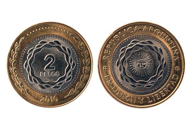 Cara y seca de la nueva moneda