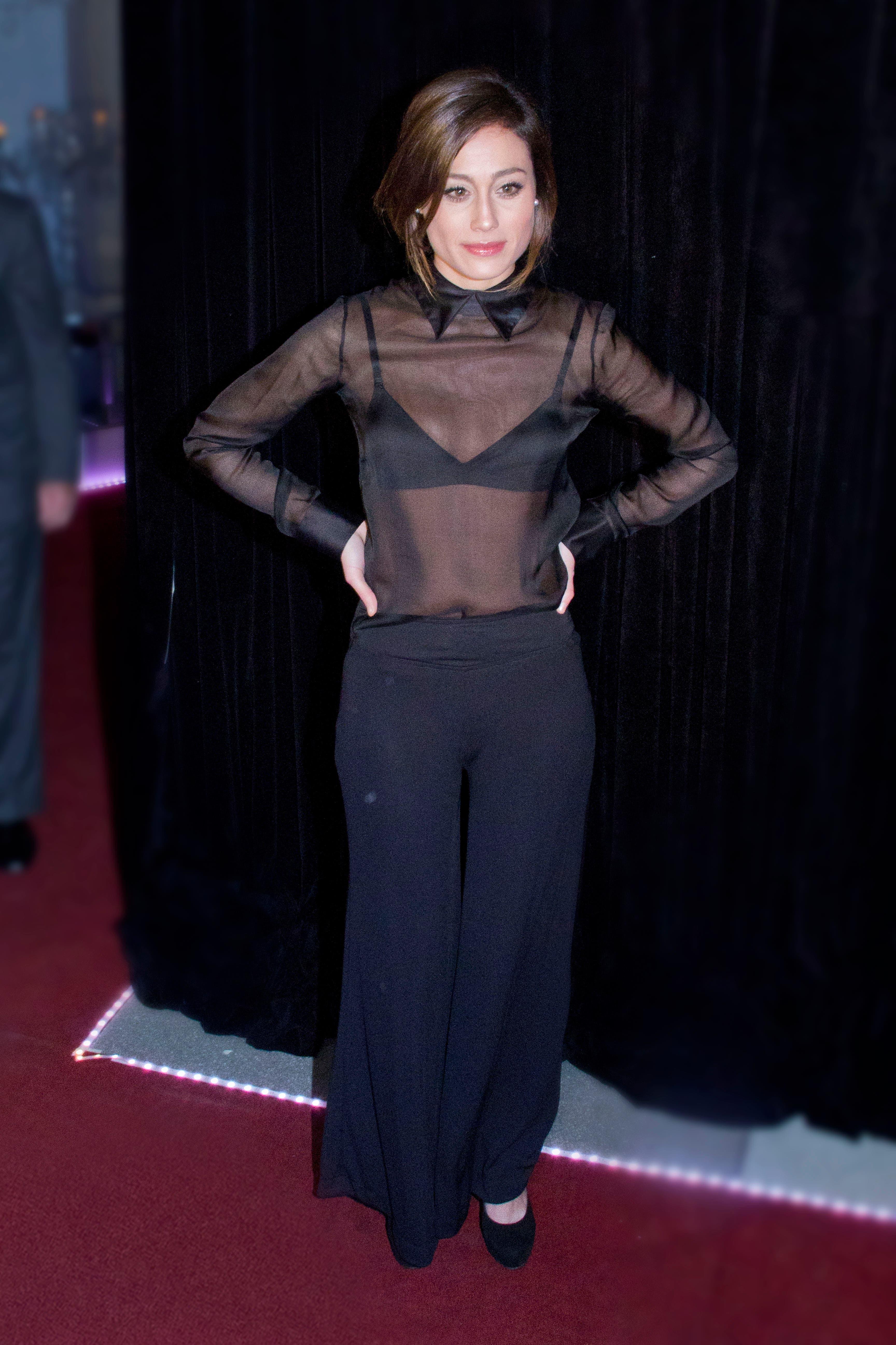 Mercedes Oviedo, en la alfombra roja. Foto: /hola.com.ar