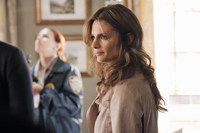 La actriz, en una escena de Castle, que emite AXN los jueves