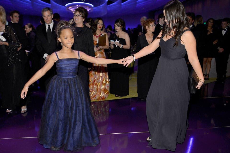 Quvenzhané Wallis, bailando en la fiesta del Gobernador. Foto: /Getty Images