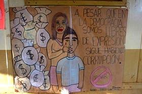 El dibujo que los alumnos de una escuela de Oberá hicieron y que causó malestar entre miembos de La Cámpora