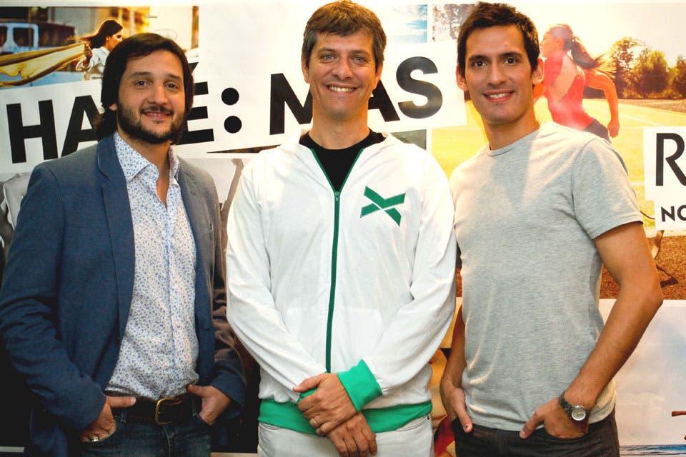 Germán Paoloski, Mario Pergolini y Sebastián Crismanich, en un evento de Rexona. Foto: /Prensa Rexona