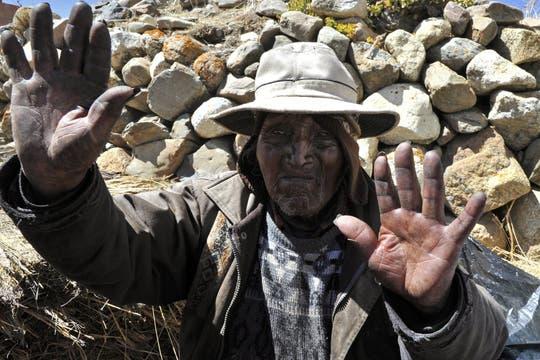 Carmelo Flores Laura tiene 123 años y fue testigo de hechos históricos del último siglo. Foto: AFP