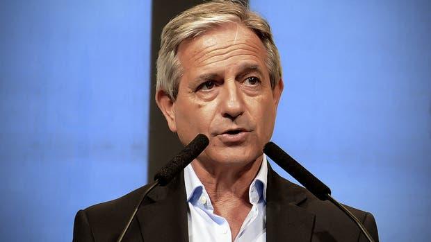 El ministro de Modernización, Andrés Ibarra, ayer, en la Casa Rosada, al anunciar la auditoría laboral