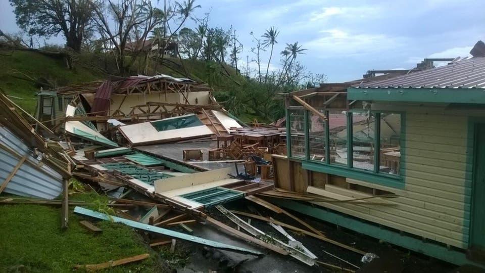 Winston fue el ciclón más fuerte jamás registrado en las islas Fiji, que en la noche del sábado al domingo azotó el archipiélago con vientos de más de 300 kilómetros por hora. Foto: AFP
