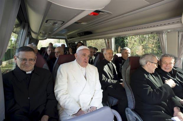 El Papa regresó ayer al Vaticano luego de un retiro espiritual