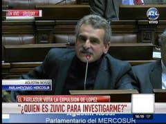 Agustín Rossi en el Parlasur