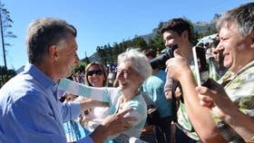 Mauricio Macri, después de sufrir una agresión en Villa Traful
