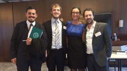 El equipo de la Facultad de Derecho de la Universidad de Buenos Aires que consagró campeón del Concurso Jean Pictet sobre Alegatos y Simulación en Derecho Internacional Humanitario
