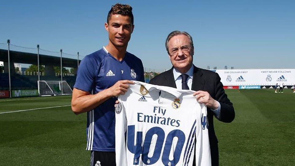 Cristiano Ronaldo marcó 400 goles con el Real Madrid, o eso es lo que dice
