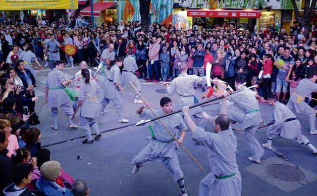 En la edición del Festival de la Luna, hubo también demostraciones de diferentes artes marciales