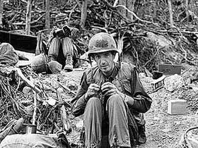 Ignacio Ezcurra, durante su trabajo en Vietnam