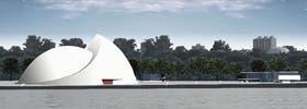 El complejo de edificaciones se levantará sobre la costa del río Paraná, a metros del Parque a la Bandera