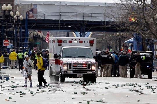 Las explosiones se produjeron en la línea de llegada. Foto: Reuters