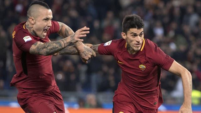 Diego Perotti marcó en el triunfo de Roma