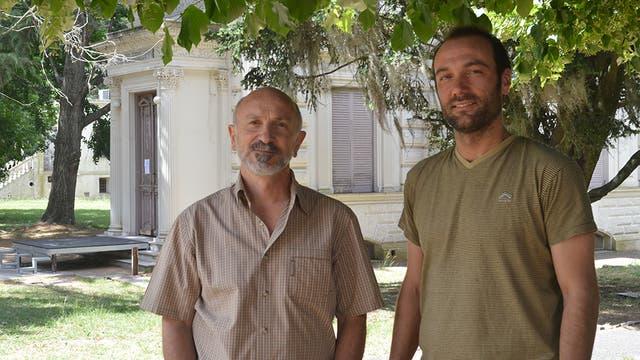 Daniel del Cogliano y Reinaldo Moralejo, ambos del Conicet