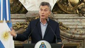 Correo y Jubilaciones: Mauricio Macri da una conferencia de prensa en la Casa Rosada