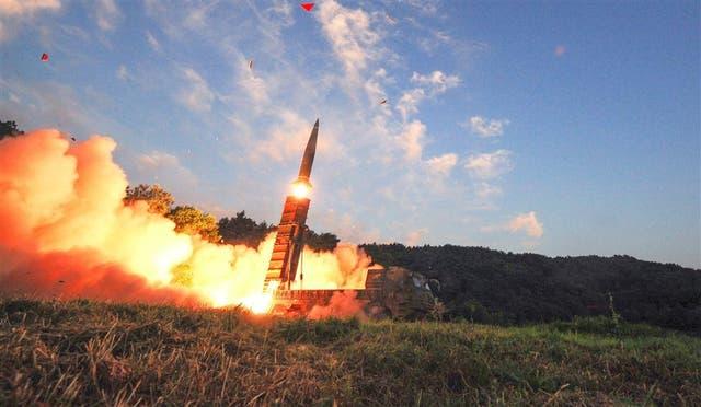 En respuesta a Pyongyang, Corea del Sur realizó prácticas ayer con sus propios misiles
