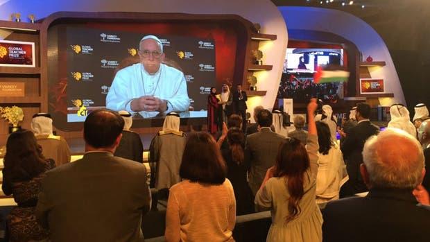 El Papa grabó un mensaje para cerrar el foro mundial sobre educación en Dubai