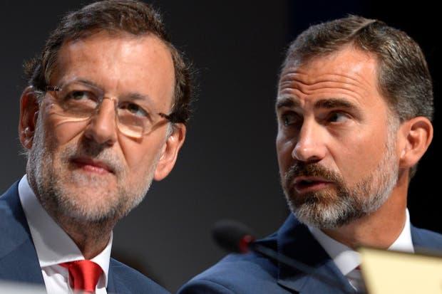 Rajoy y Felipe, príncipe de Asturias, presentes en el hotel Hilton