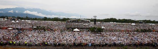 Una multitud fue a escuchar el sermón del papa Francisco en Villavicencio