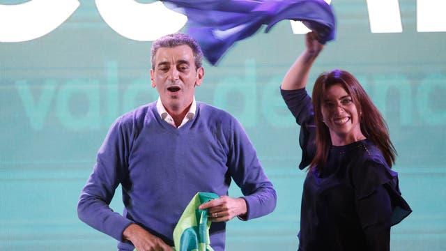 El cierre de campaña de Florencio Randazzo junto a su compañera de fórmula Florencia Casamiquela