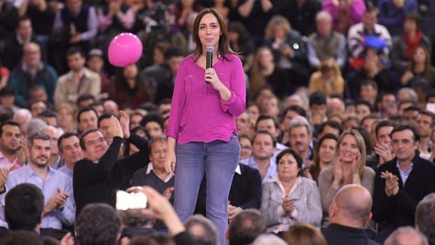La gobernadora de la provincia de Buenos Aires, María Eugenia Vidal, en el cierre de campaña, en Vicente López