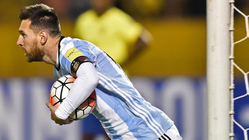 El festejo del empate, el dueño de la pelota. Foto: AFP