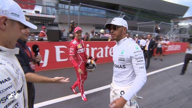 Hamilton le negó el saludo a Vettel