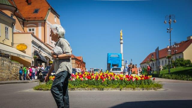 La mayor parte de la arquitectura de la Ciudad Baja, o Lower Zagreb, es del siglo XIV y presenta una mezcla de estilos arquitectónicos. Allí se puede visitar la catedral principal, el mercado Dolac, la Plaza de las Flores, el Observatorio 360° y diferentes circuitos gastronómicos